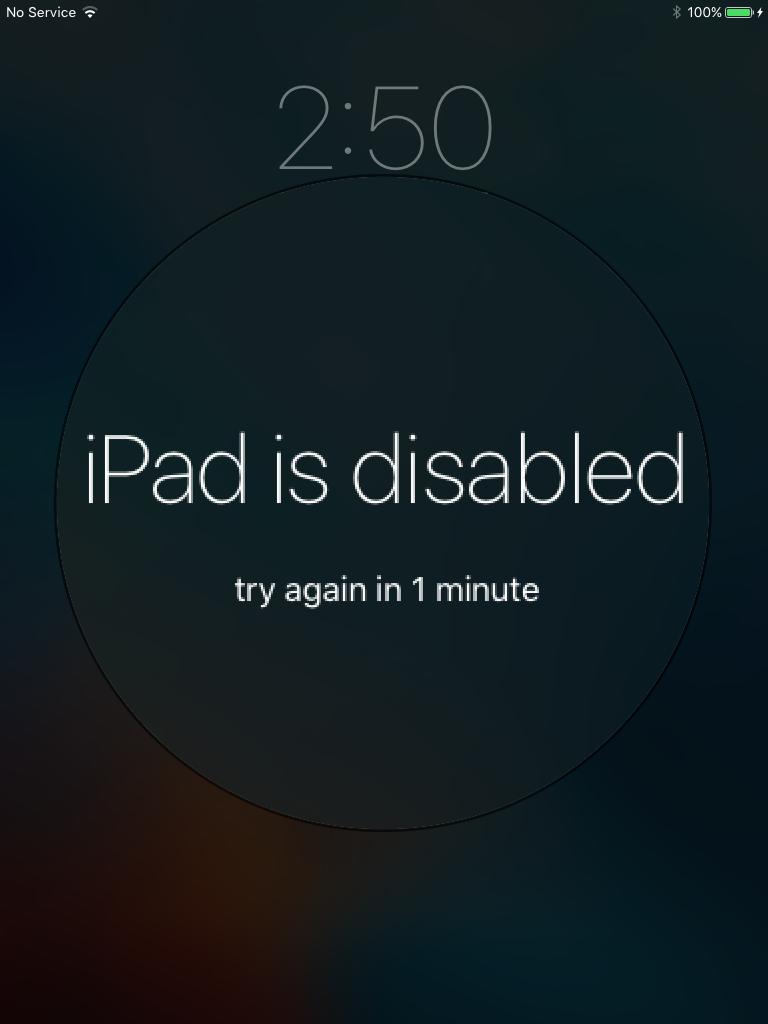 Unlock Disabled iPhone/iPad?